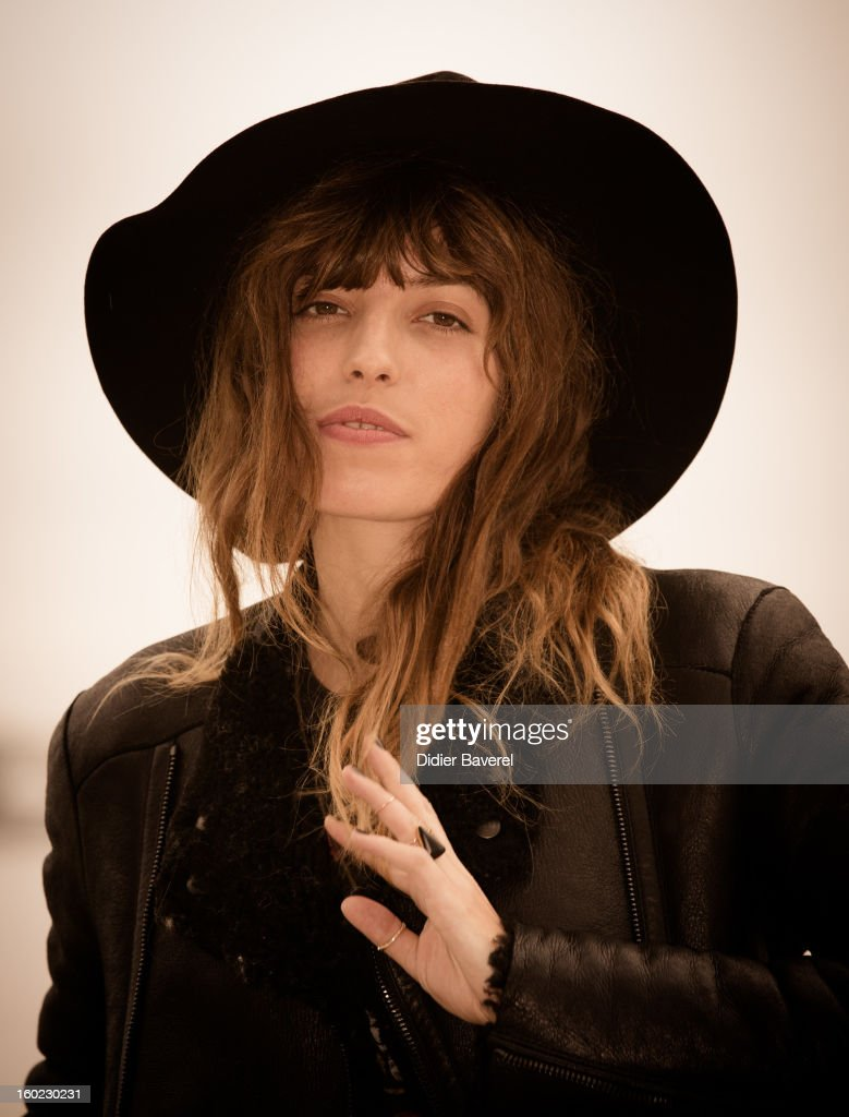 French singer and actress <a gi-track='captionPersonalityLinkClicked' href=/galleries/search?phrase=Lou+Doillon&family=editorial&specificpeople=208822 ng-click='$event.stopPropagation()'>Lou Doillon</a> poses during the photocall of 47th Midem at Palais des Festivals on January 28, 2013 in Cannes, France.