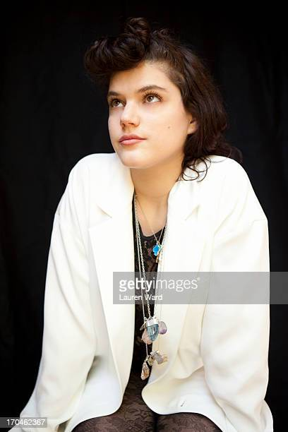 French singer and actress Soko SoKo is photographed for Aritzia Magazine on April 23 2013 in Los Angeles California