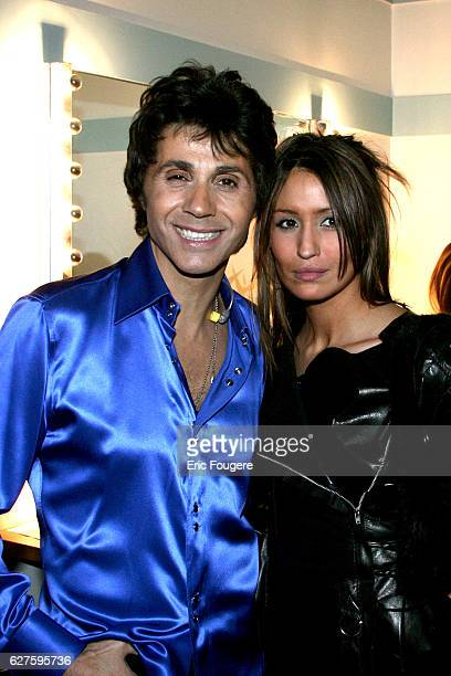 French singer and club owner JeanLuc Lahaye with his fiancee Vanessa at the Olympia concert hall