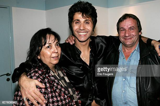 French singer and club owner JeanLuc Lahaye with his sister and brother at the Olympia concert hall