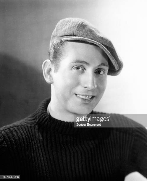 French singer and songwriter Charles Trenet on the set of the musical Romance de Paris written and directed by Jean Boyer