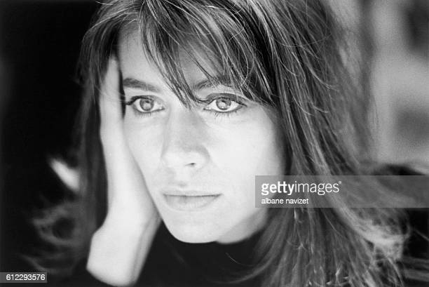 French singer and songwriter Françoise Hardy at home