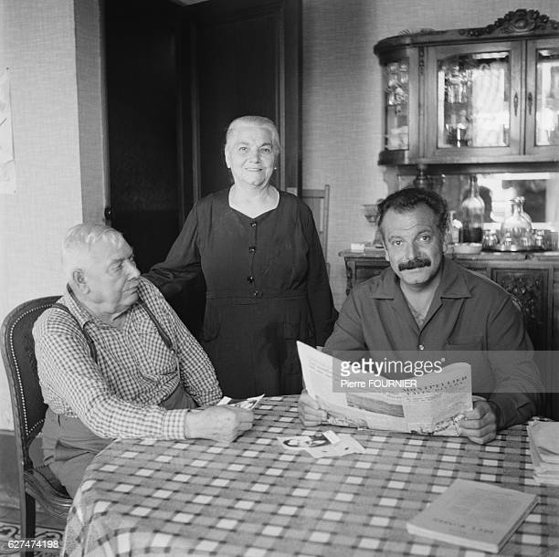 French singer and songwriter Georges Brassens and his parents in their native town of Sete