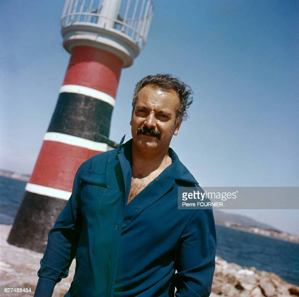 French singer and songwriter Georges Brassens in his native town of Sete