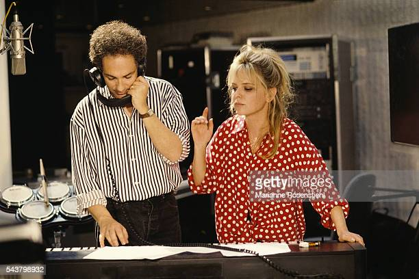 French singer and songwriter Michel Berger and his wife singer France Gall