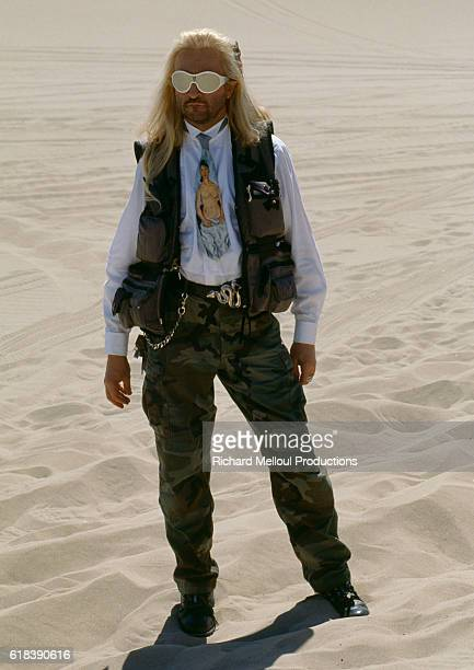 French singer and songwriter Michel Polnareff during the filming of a TV show