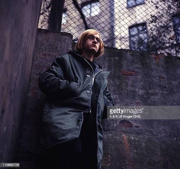 French Singer and songwriter Michel Polnareff posed in a street in Hamburg Germany circa 1965 Photo Gunter Zint