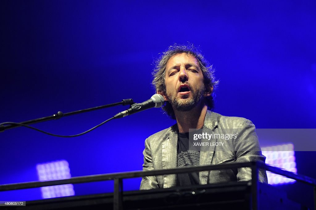 French singer Arthur H performs on stage at the Francofolies Music Festival in La Rochelle on July 13, 2015.