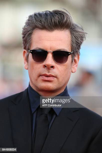 French singer Benjamin Biolay poses on the red carpet before the closing ceremony of the 43rd Deauville US Film Festival on September 9 2017 in the...