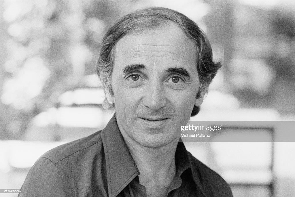 French singer Charles Aznavour June 1974