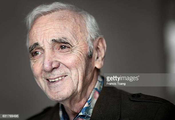 French singer Charles Aznavour photographed in Madrid Spain 26th April 2015