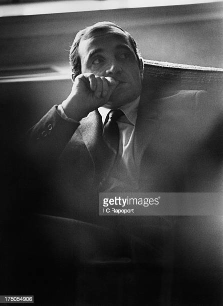 French singer Charles Aznavour poses for a portrait in 1965 in New York City New York