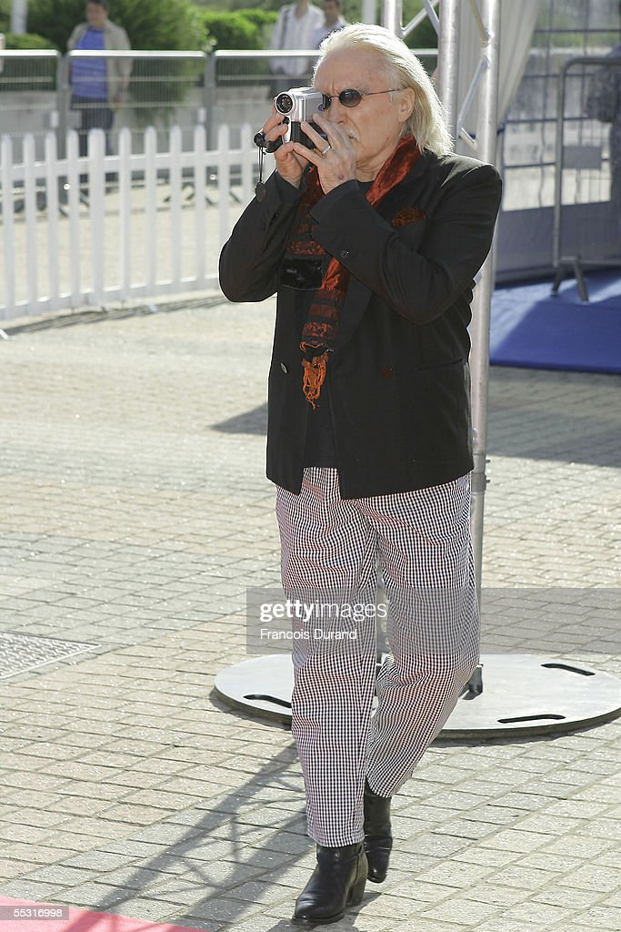 French singer Christophe arrives at the premiere for Pretty Persuasion at the 31st Deauville Festival Of American Film on September 8, 2005 in Deauville, France.