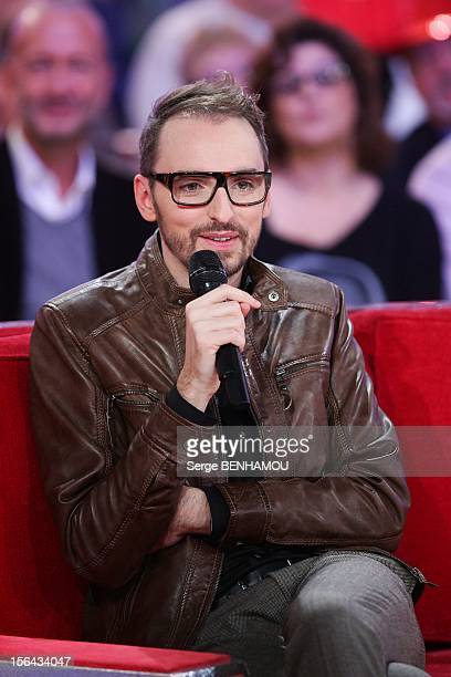 French singer Christophe Willem attends 'Vivement Dimanche' Tv show on November 14 2012 in Paris France