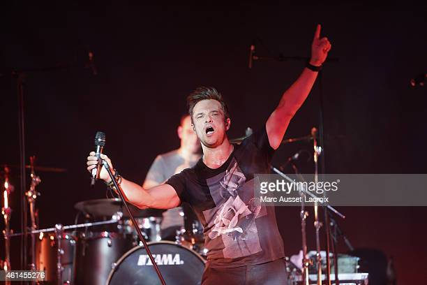 French Singer David Hallyday and his band Mission Control performs live at Theatre Comedia in Paris on January 12 2015 in Paris France
