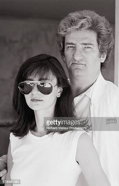 French Singer Eddy Mitchell with His Wife Muriel