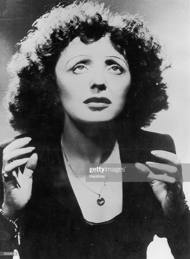 French singer Edith Piaf (1915 - 1963), affectionately known as the 'Sparrow of Paris'; 'Piaf' translates as 'sparrow'.