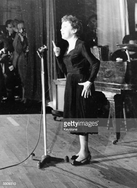 French singer Edith Piaf