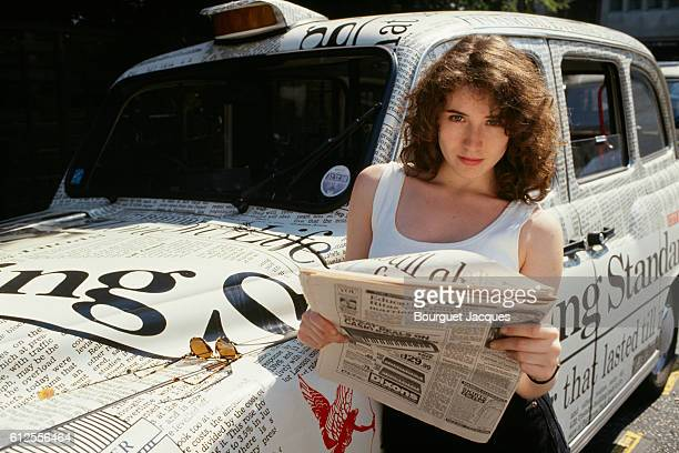 French singer Elsa in London during a recording session