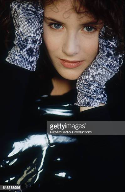 French singer Elsa Lunghini usually known simply as Elsa poses at La Baule in France She is on vacation at the resort town before heading to Paris...