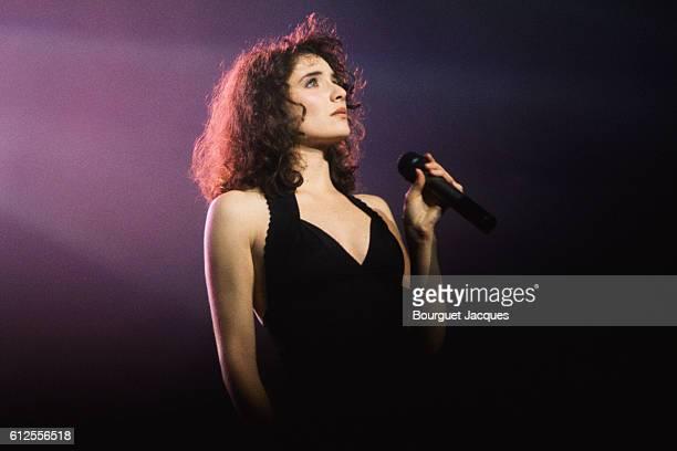 French singer Elsa on stage in Charleroi