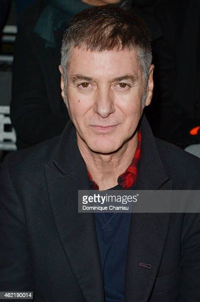 French singer Etienne Daho attends the Saint Laurent Menswear Fall/Winter 20152016 show as part of Paris Fashion Week>> on January 25 2015 in Paris...