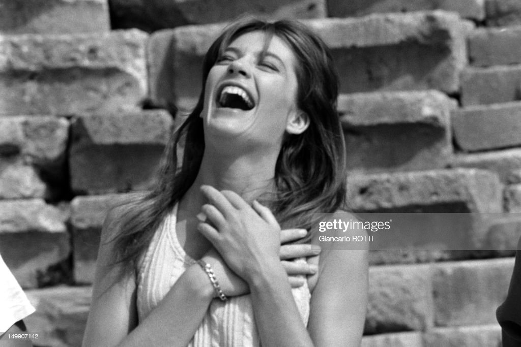 French Singer <a gi-track='captionPersonalityLinkClicked' href=/galleries/search?phrase=Francoise+Hardy&family=editorial&specificpeople=941715 ng-click='$event.stopPropagation()'>Francoise Hardy</a> in Greece, July 1965.