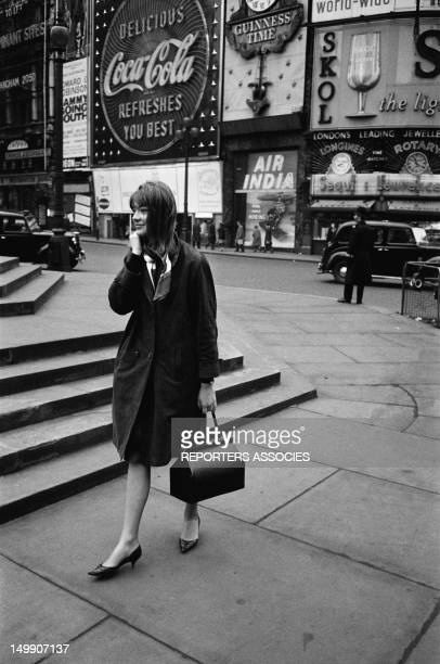 French Singer Francoise Hardy in London on March 23 1963 in Lodon United kingdom