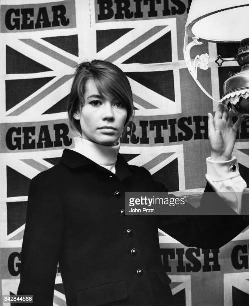 French singer Françoise Hardy visits British Gear a boutique in London's Carnaby Street UK February 1967