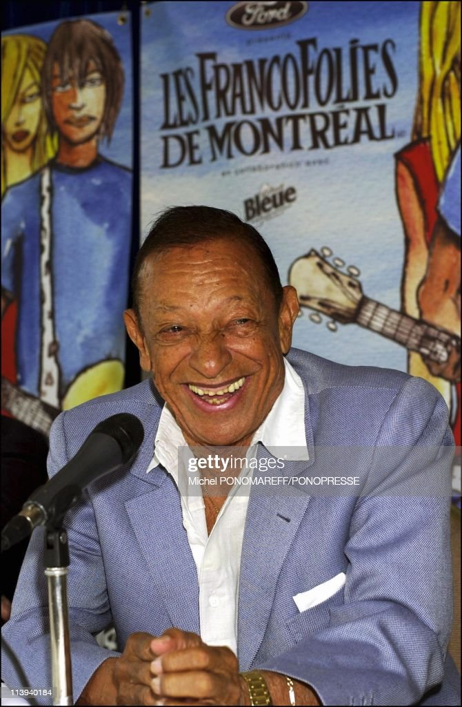 French singer Henri Salvador gives a press conference during the Francofolies In Montreal Canada On July 30 2004