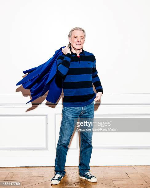 French singer Herbert Leonard is photographed for Paris Match on March 03 2014 in Paris France