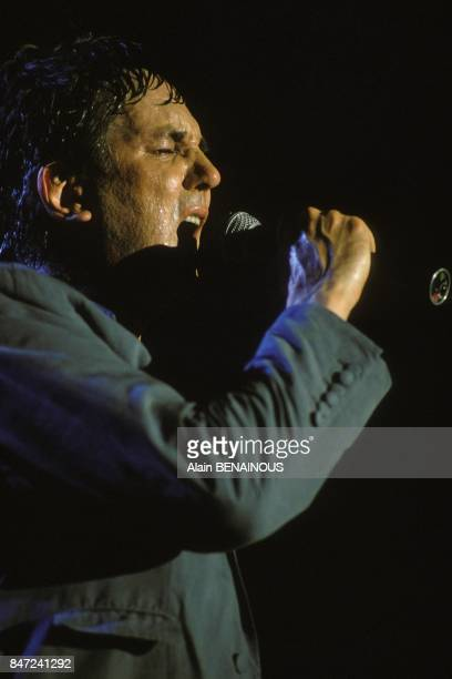 French singer Jacques Higelin at music festival 'Printemps de Bourges' on April 9 1989 in Bourges France