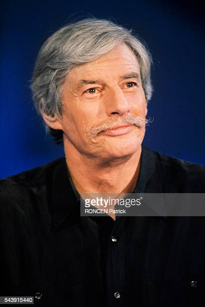 French singer Jean Ferrat on the set of television show Stars 90