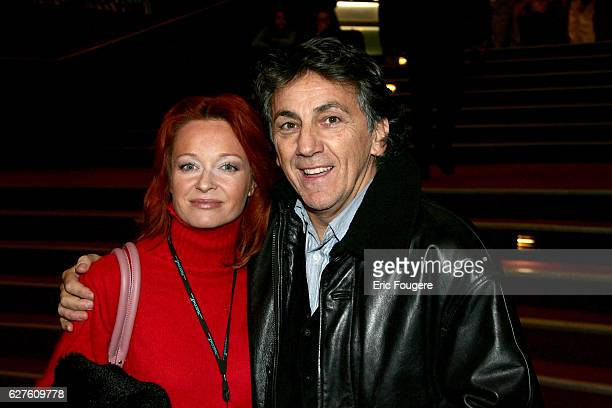 French singer JeanPierre Savelli and his wife at the Olympia concert hall