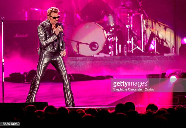 French singer Johnny Hallyday launches his 60th birthday tour with his first gig at the 'Parc des Princes' stadium