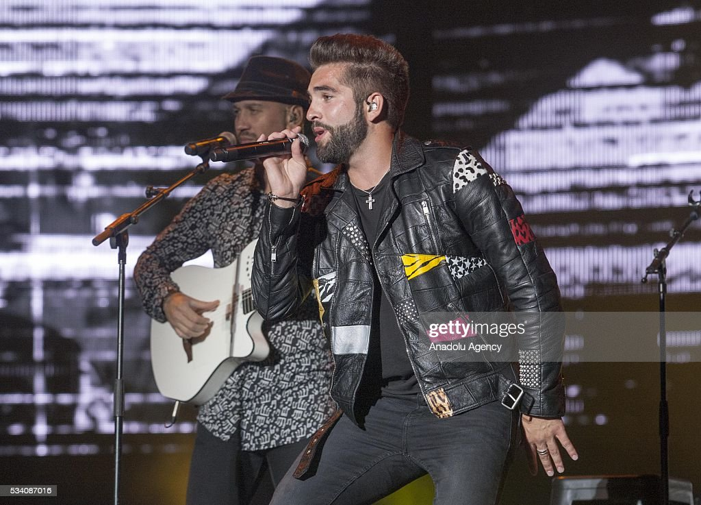 French singer Kendji Girac performs during the 15th International Mawazine Music festival at Olm Souissi in Rabat, Morocco on May 24, 2016.