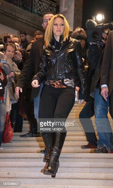 French singer Lorie arrives to sign autographs during the launching of her new album '2Lor en moi ' 28 November 2007 in a music store on the...