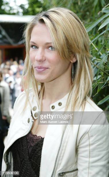 French Singer Lorie during 2006 French Open Celebrity Sightings May 30 2006 at Roland Garros in Paris France