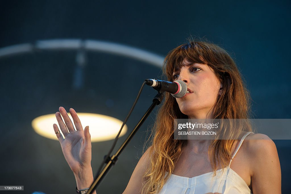 French singer Lou Doillon performs on the stage of the Eurockeennes music festival on July 6, 2013, in the French eastern city of Belfort.