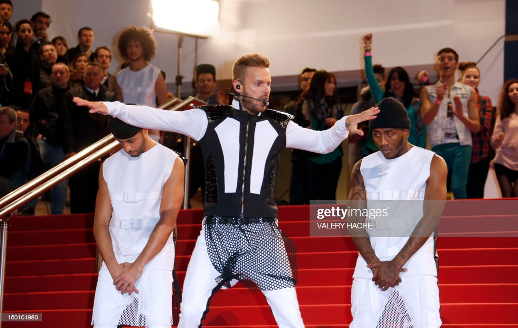 French singer M Pokora performs at the Palais des Festivals during the 14th Annual NRJ Music Awards on January 26, 2013 in Cannes, southeastern France. News that the global music industry has finally turned the corner and is on the road to recovery should help get the annual four-day gathering of many of the world's top music execs at the MIDEM trade fair that opens here Saturday off to a good start.
