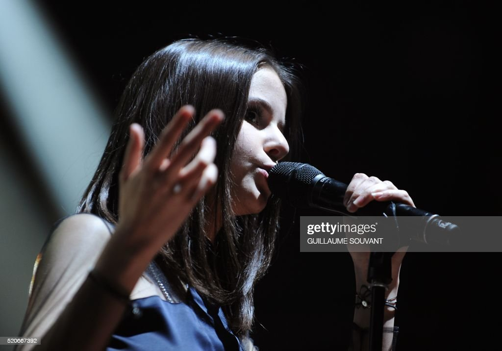 french singer marina kaye performs on stage during the 40th edition pictures getty images. Black Bedroom Furniture Sets. Home Design Ideas