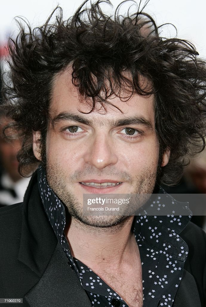 French singer <a gi-track='captionPersonalityLinkClicked' href=/galleries/search?phrase=Mathieu+Chedid&family=editorial&specificpeople=624503 ng-click='$event.stopPropagation()'>Mathieu Chedid</a> aka M and C attends the 'Over The Hedge' premiere at the Palais during the 59th International Cannes Film Festival May 21, 2006 in Cannes, France.