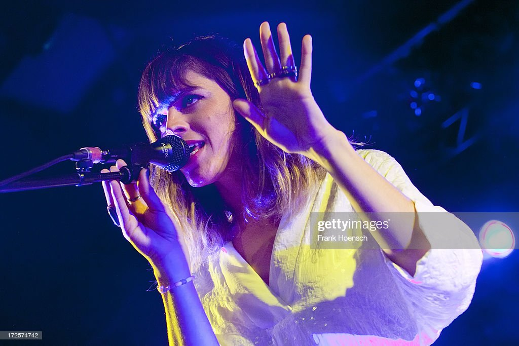 French singer Melody Prochet with project Melody's Echo Chamber performs live in support of Tame Impala during a concert at the Astra on July 3 2013...
