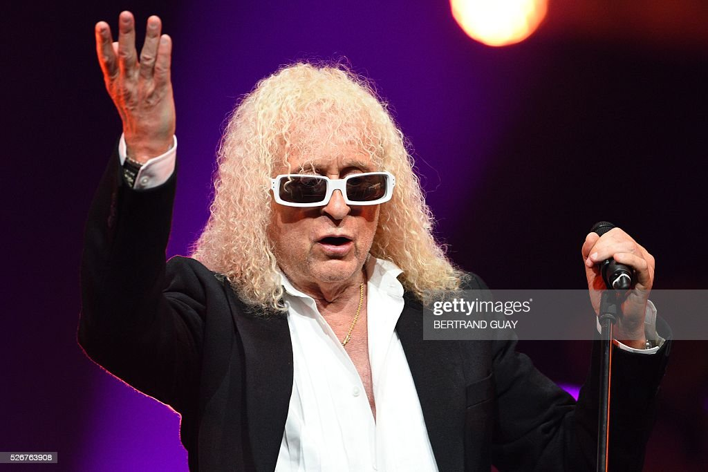 French singer Michel Polnareff performs on stage during a concert in Epernay, northern France, on April 30, 2016. GUAY