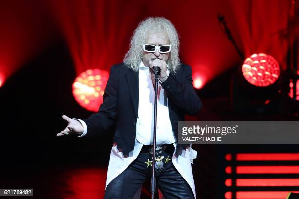 French singer Michel Polnareff performs on stage on November 08 2016 in Nice southeastern France / AFP / VALERY HACHE