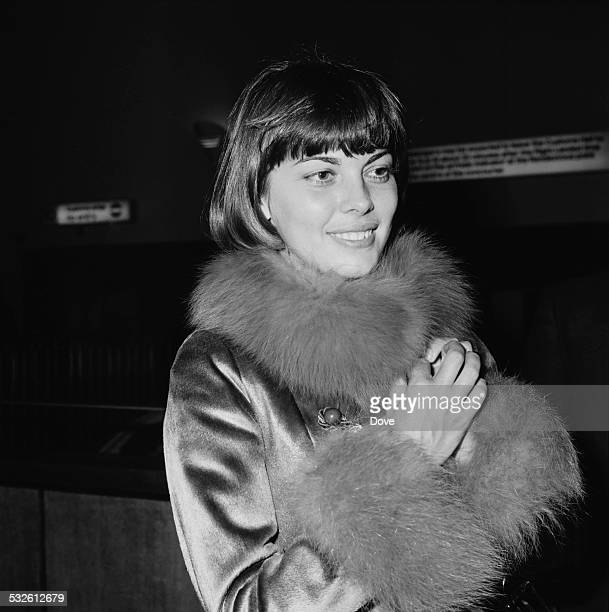 French singer Mireille Mathieu arrives at London Airport 15th January 1972