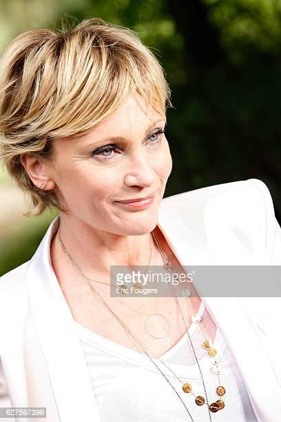 French singer Patricia Kaas at 'la foret des livres ' in chanceaux près loche