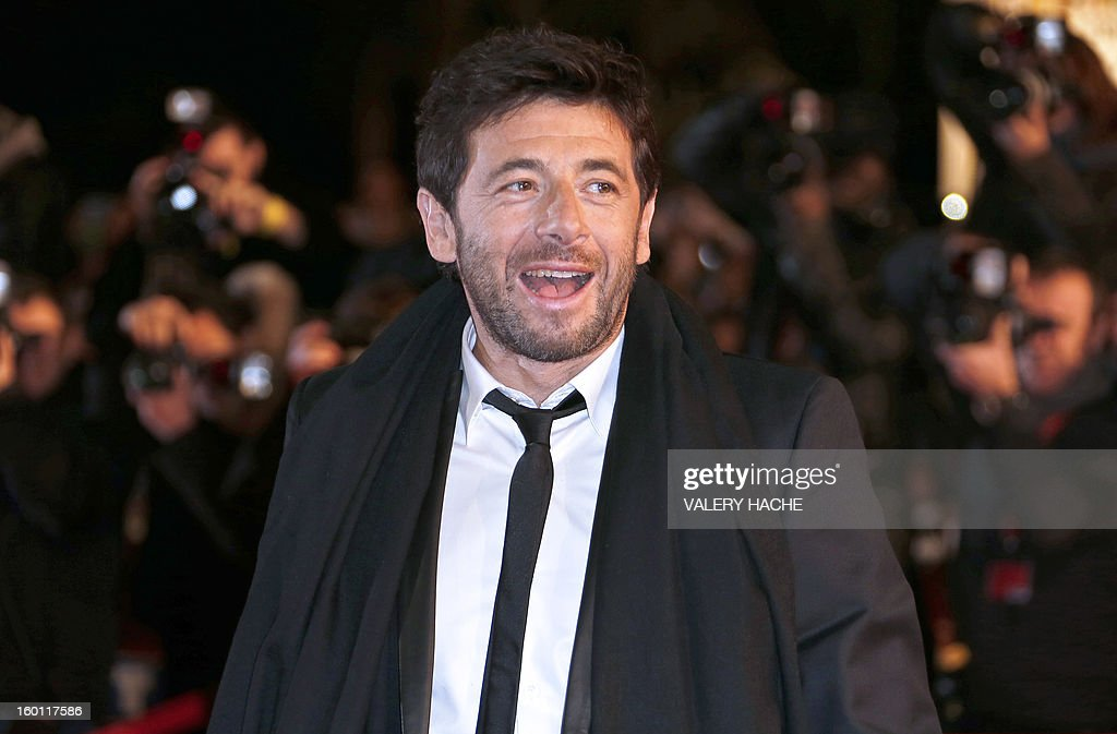French singer Patrick Bruel poses upon arrival at the Palais des Festivals during the 14th Annual NRJ Music Awards on January 26, 2013 in Cannes, southeastern France. News that the global music industry has finally turned the corner and is on the road to recovery should help get the annual four-day gathering of many of the world's top music execs at the MIDEM trade fair that opens here Saturday off to a good start.