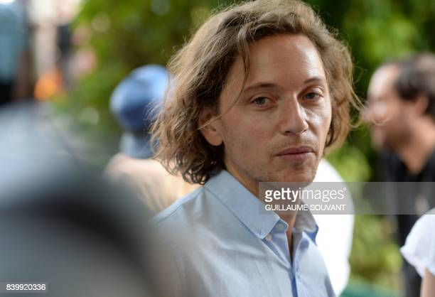 French singer Raphael Haroche aka 'Raphael' attends the 22th La Foret Des Livres book fair on August 27 2017 in ChanceauxpresLoches central France La...