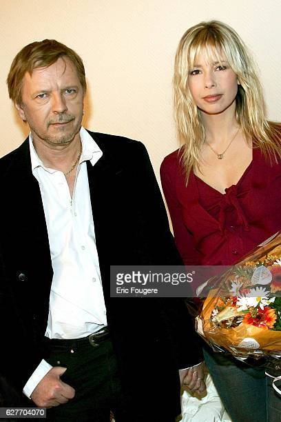 French singer Renaud and his wife Romane Serda on the set of Pascal Sevran's TV show 'Chanter La Vie'